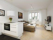 طراحی و بازسازی آپارتمان یک خوابه + پلان