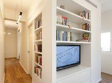 بازسازی و طراحی داخلی: طراحی اصیل آپارتمان ۴۰ متری + پلان