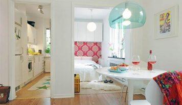 طراحی داخلی آپارتمان کوچک زیبا و کاربردی ۴۰ متری