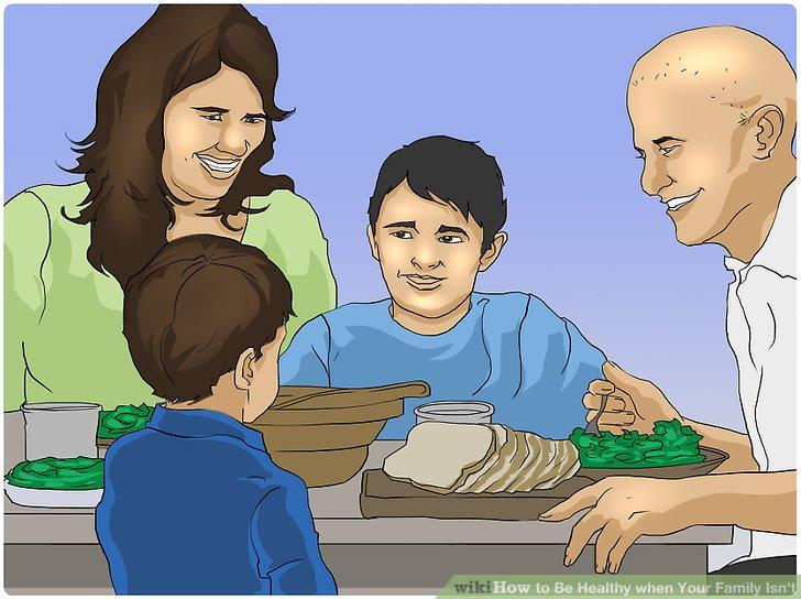 به عنوان یک خانواده، شام را با هم بخورید
