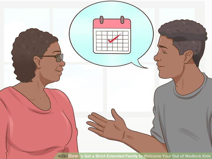 یک زمانی را برای صحبت کردن با خانواده گسترده تان مشخص کنید