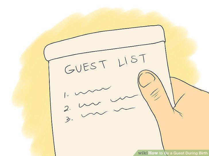 لیست مهمانان مادر (فردی که قرار است بچه اش را به دنیا بیاورد) را بپرسید