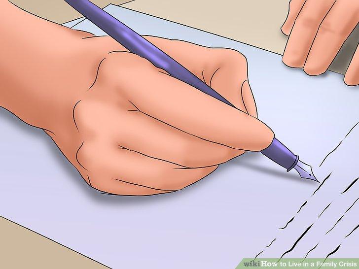 به منظور نشان دادن صدمه ای که دیده اید، روزنامه نویسی کنید یا یک سری کارهای هنری دیگری بسازید