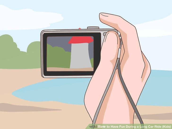 از منظره خارج از ماشین عکس بگیرید