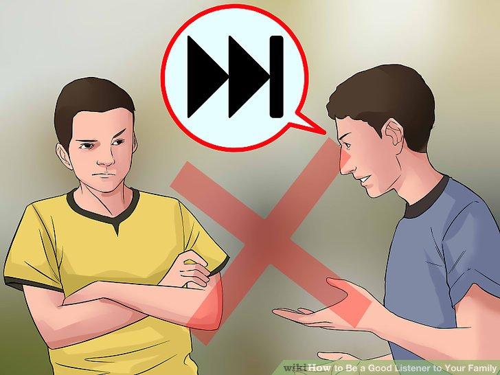 سعی نکنید که فرد صحبت کننده را دستپاچه کنید