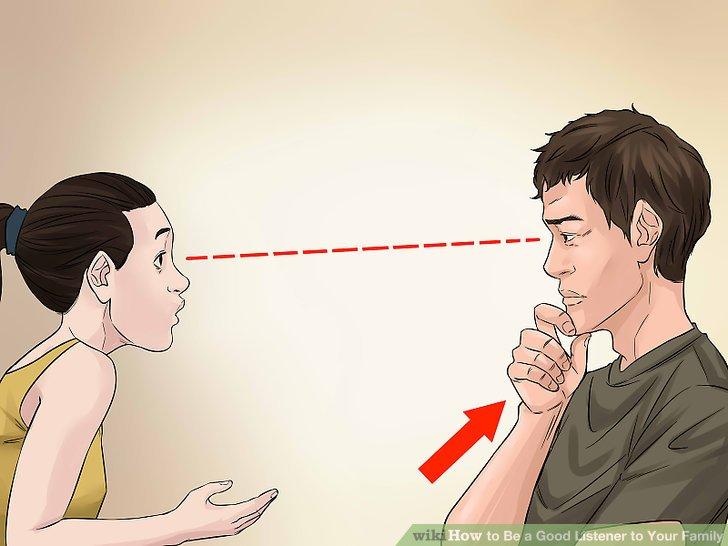 با استفاده از راهنماهای غیرزبانی، نشان دهید که به حرف طرف مقابلتان گوش می دهید